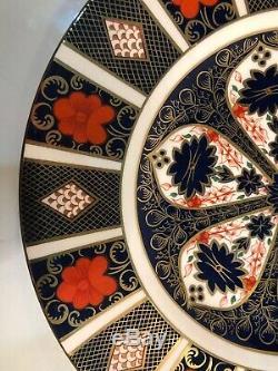 Set Of 12 Royal Crown Derby Old Imari 1128 10 5/8 Dinner Plates 1st Quality