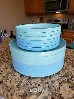 Set Of 12 Vintage Heller Design By Massimo Vignelli Dinner Salad Plates