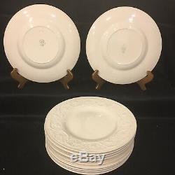 Set Of 12 Vintage Wedgwood Patrician (Old) Ivory Etruria Barlaston Dinner Plates