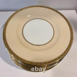 Set Of 14 Cauldon Dinner Gold Plates Excellent Conditions