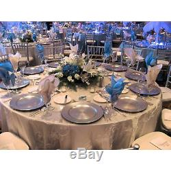 Set Of 150 Silver Radiance Decorative Charger Dinner Dining Under Plates Wedding