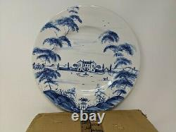 Set Of 4 Juliska Country Estate Dinner Plates, Delft Blue, Main House