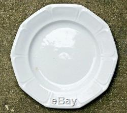 Set Of 5 Brougham & Mayer Virginia Shape White Ironstone Dinner Plates 1855