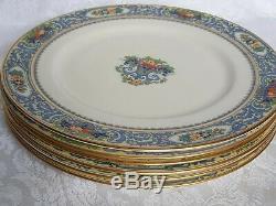 Set Of 6 BLACK MARK Antique Lenox AUTUMN China Dinner Plates 10 1/2