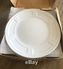 Set Of 6 Bernardaud NAXOS White Service Dinner Plates 12 Good Used Condition