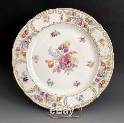 Set Of 6 Schumann Arzberg Bavaria Empress Dresden Flowers Dinner Plates