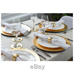 Set Of 60 Gold Round Charger Under Plates Place Settings Wedding Serving Platter