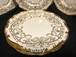 Set Of 7 English Porcelain By Coalport Anniversary Dinner Plates 10.5