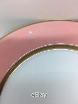 Set Of 8 Fitz & Floyd Pink Peach Salmon RENAISSANCE Dinner Plates 10 ½