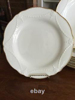 Set Of Ten Antique Classical Minton Dinner Plates Gold Details