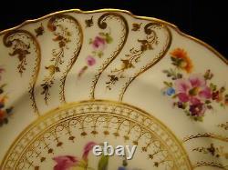 Set Six (6) Richard Klemm Dresden Flowers Porcelain Dinner Plates 1888-1916