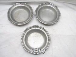 Set Wilton Armetale Queen Anne Pewter Dinner Plates Bowls Dishes Bread 12 Matte