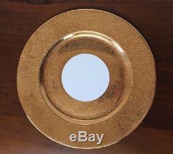 Set of 10 Superior Bavaria 22k GOLD ENCRUSTED Dinner Plates