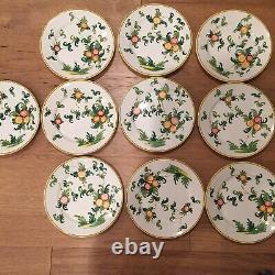 Set of 10 Vintage Dinner Plates Hand Painted Made in Italy b Filliponi La Perla