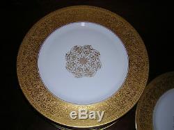 Set of 11 Heinrich Selb gold encrusted dinner plates Bailey Banks & Biddle