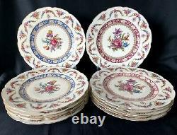 Set of 12 Antique Bavaria Dresden Flowers Dinner Plates 11
