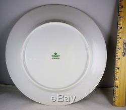 Set of 12 Heinrich Parnass German China Large Dinner Plates Rust, Floral Minty