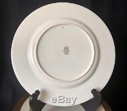 Set of 12 Lenox Westchester dinner plates gold trim 10.5