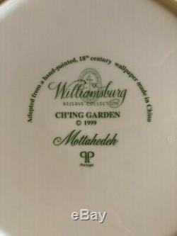 Set of 12 Mottahedeh Ch'ing Garden 10 Dinner Plates Williamsburg Wallpaper