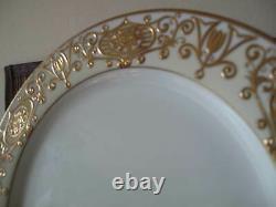Set of 12 Noritake CHRISTMAS BALL Gold #175 10 Dinner Plates