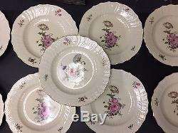 Set of 12 Royal Copenhagen FRIJSENBORG 10 Dinner Plates 910 #1621