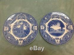 Set of 12 Wedgwood Blue USMA West Point 1933 Commemorative Dinner PLATES 10 1/2