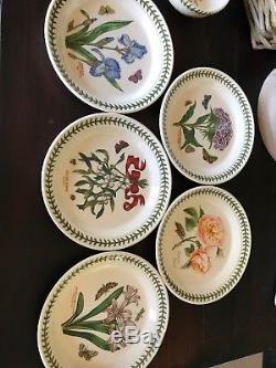 Set of 13 Portmeirion Ceramic Dinner Salad Plates & Bowls The Botanic Garden