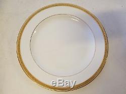 Set of 15 Cauldon England Encrusted Gold Floral Edge Dinner Plates