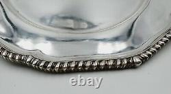 Set of 2 1795 George Smith III & William Fearn Sterling Silver 11 Dinner Plates