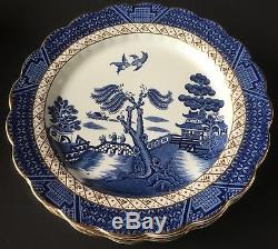 Set of 4 Booths Real Old Willow 10 & 1/2 Dinner Plates