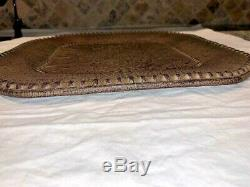 Set of 4 Gracious Goods Versailles 11 Dinner Plates with Metal Chargers 13-1/2