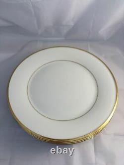 Set of 6 Lenox Bone China ETERNAL Dinner Plates Free Shipping