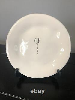 Set of 6 RAE DUNN VINTAGE MAGENTA CELEBRATE DIMPLED PLATES