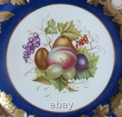 Set of 7 Antique SPODE COPELAND English Hand-Painted DINNER PLATES c. 1920s