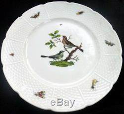 Set of 7 Limoges France Les Oiseaux Dinner Plate A Raynaud et Cie Porcelain