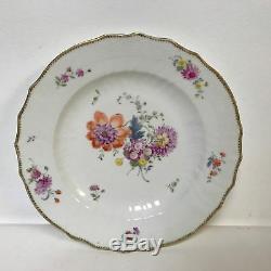 Set of 7 Royal Copenhagen Saxon Flower Botanical Pattern 10 Dinner Soup Plates