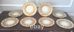 Set of 8 Early Antique LENOX DINNER PLATES Exceptional Heavy Gold #E344R