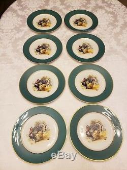 Set of 8 Vogue Governors Mansion Turkey plates / Vintage