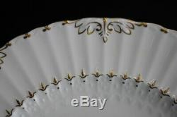 Set of 9 Vintage Royal Crown Derby ASHBY 10 3/8 Bone China Dinner Plates Mint