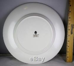 Set of Eight Wedgwood Bone China White 501054 Dinner Plates