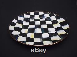 Set of Four (4) MacKenzie-Childs Courtly Check Enamel Dinner Plates