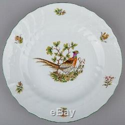 Set of Six Herend Hunter Trophies Dinner Plates, 6 pieces #1526/CHT-M