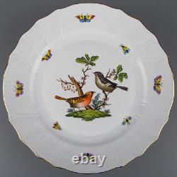 Set of Twelve Herend Rothschild Bird Dinner Plates, All 12 Motifs, #1524/VBO