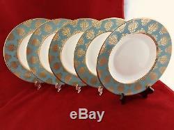 Set of five Brand new Royal Crown Derby Bristol Belle 10.5 dinner plates