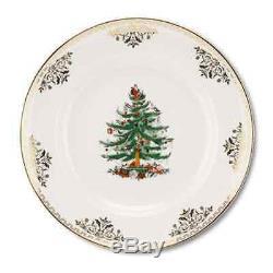 Spode Christmas Tree Gold Dinner Plate, Set of 4