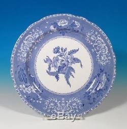 Spode Copeland SET (8) Camilla Blue & White Vintage Mark Dinner Plates EXC