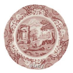 Spode Cranberry Italian Dinner Plate (Set of Twelve)