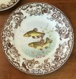 Spode WOODLAND STREAM Set of 6 Dinner Plates