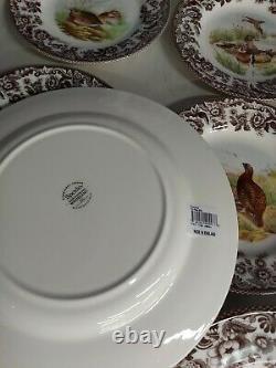 Spode Woodland set of 8 plates (Dinners+Salads)