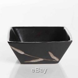 Square Dinnerware Set 16 Piece Stoneware Dinner Plates Bowls Mugs Microwavable